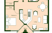Floor Plan 2 Bedroom Layout 3