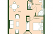 Floor Plan 2 Bedroom Layout 1